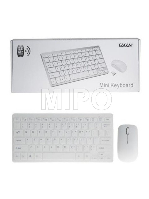 EACAN Keyboard Wireless + Mouse Combo mini
