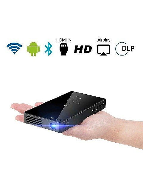 Wiretek Mini DLP Projector Android 7.1