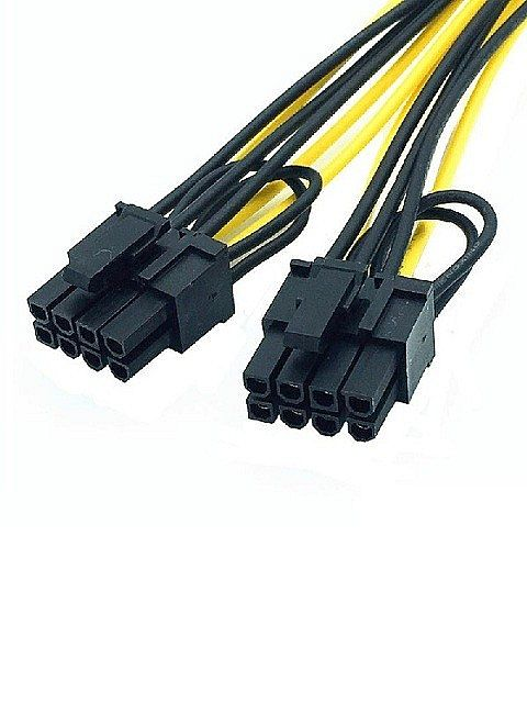 Kabel Power ATX 12V 8P to 2x 6P+2P