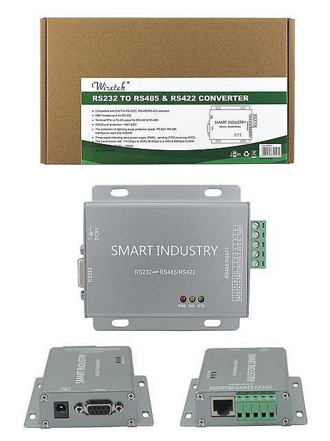Wiretek RS232 to RS485/RS422 Converter