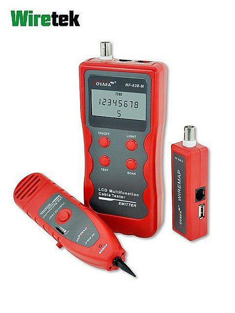 Cable Tester Digital Multifungsi NF-838