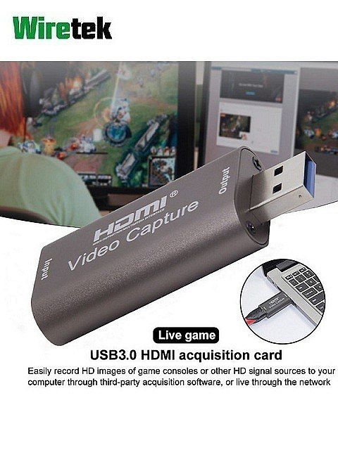 USB 3.0 HDMI Video Capture Dongle Game Live Streaming 1080P