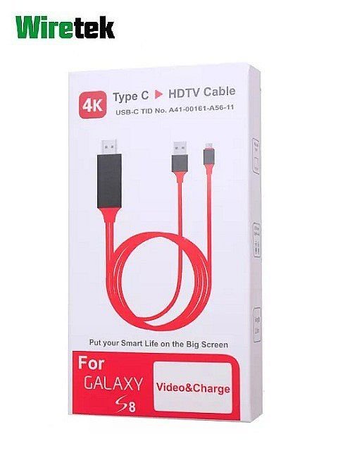 Type C to HDMI HDTV with Charging Adaptor Cable 2 meter